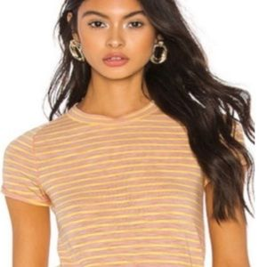 NWT Free People Summer Rose Combo T shirt